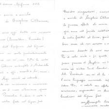 lettera di Suor Mariangela